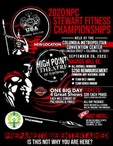 Columbia Stewart Fitness Championships Flyer